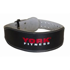 York Padded Leather Weight Lifting Belt
