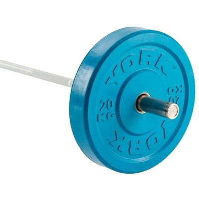 York Solid Rubber Bumper Olympic Coloured Weight Plates - 20kg