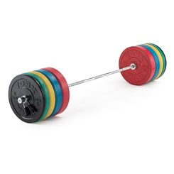 York Solid Rubber Bumper Olympic Coloured Weight Plates