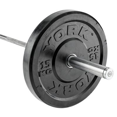 York Solid Rubber Bumper Olympic Weight Plates - 15kg