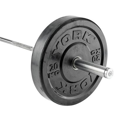 York Solid Rubber Bumper Olympic Weight Plates - 20kg