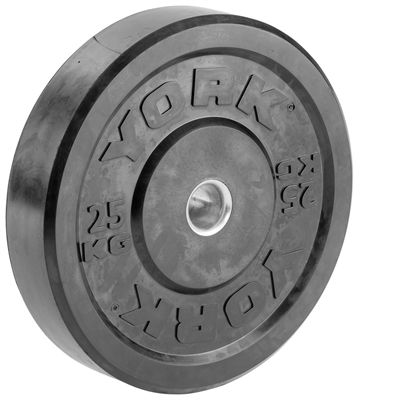 York Solid Rubber Bumper Olympic Weight Plates - 25kg