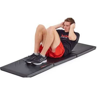 York Ultimate Folding Exercise Mat - In Use