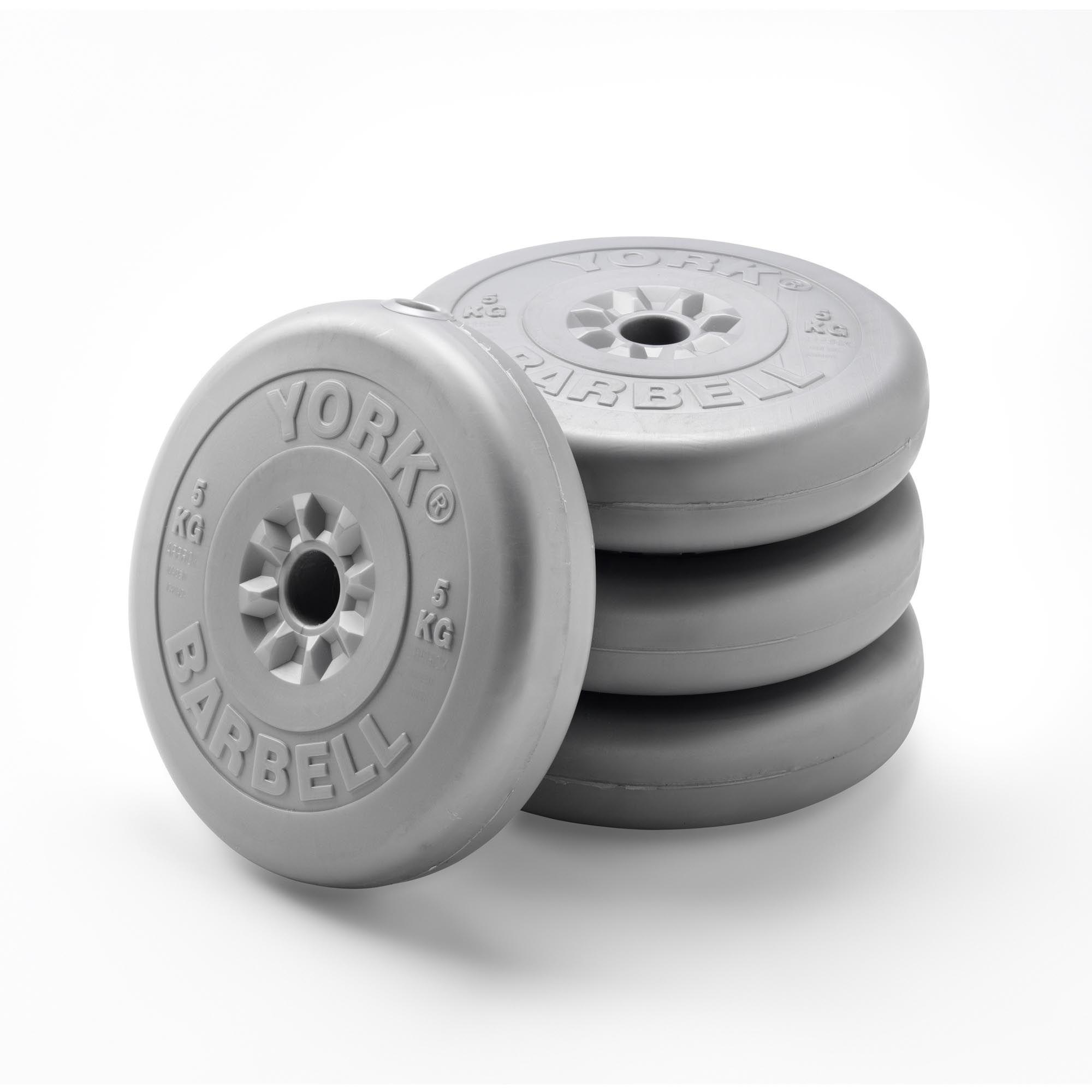 York Vinyl Weight Plates 4x 5kg Sweatband Com