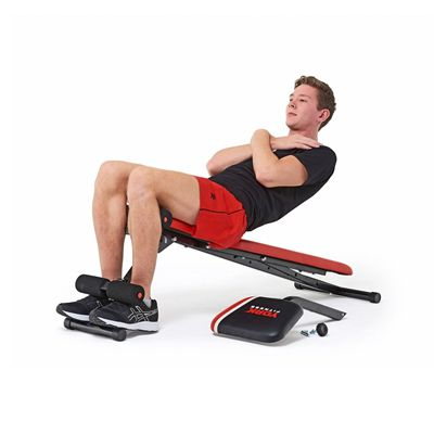 York Warrior 2 in 1 Dumbbell and Ab Bench with Curl 9