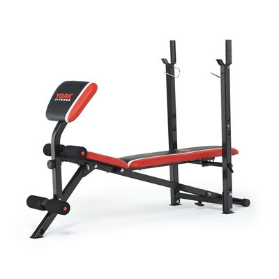 York Warrior 2 in 1 Folding Barbell and Ab Bench with Curl 3