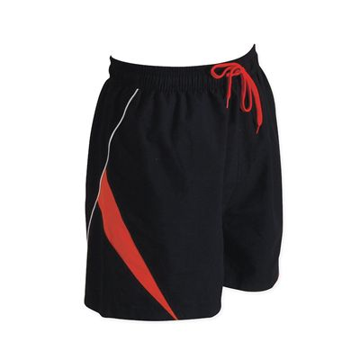 Zoggs Mens Koolan Shorts Black Orange