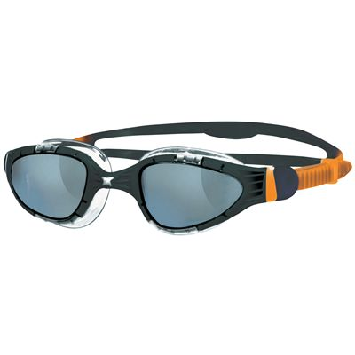 Zoggs Aqua Flex Swimming Goggles-Smoke and Black