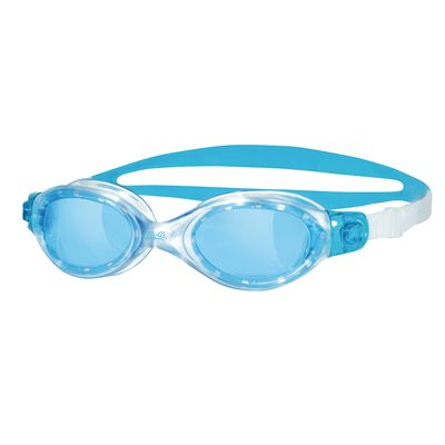Zoggs Athena Ladies Swimming Goggles - clear frame with blue lenses