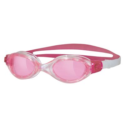 Zoggs Athena Ladies Swimming Goggles - clear frame with pink lenses