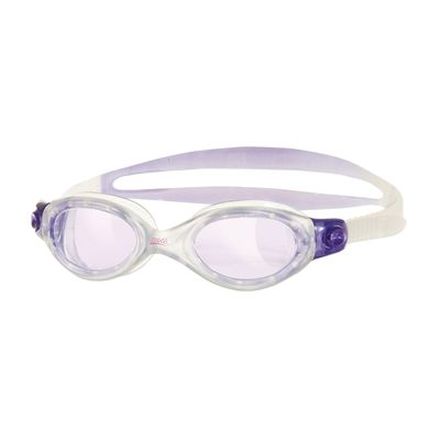 Zoggs Athena Ladies Swimming Goggles - clear frame with purple lenses