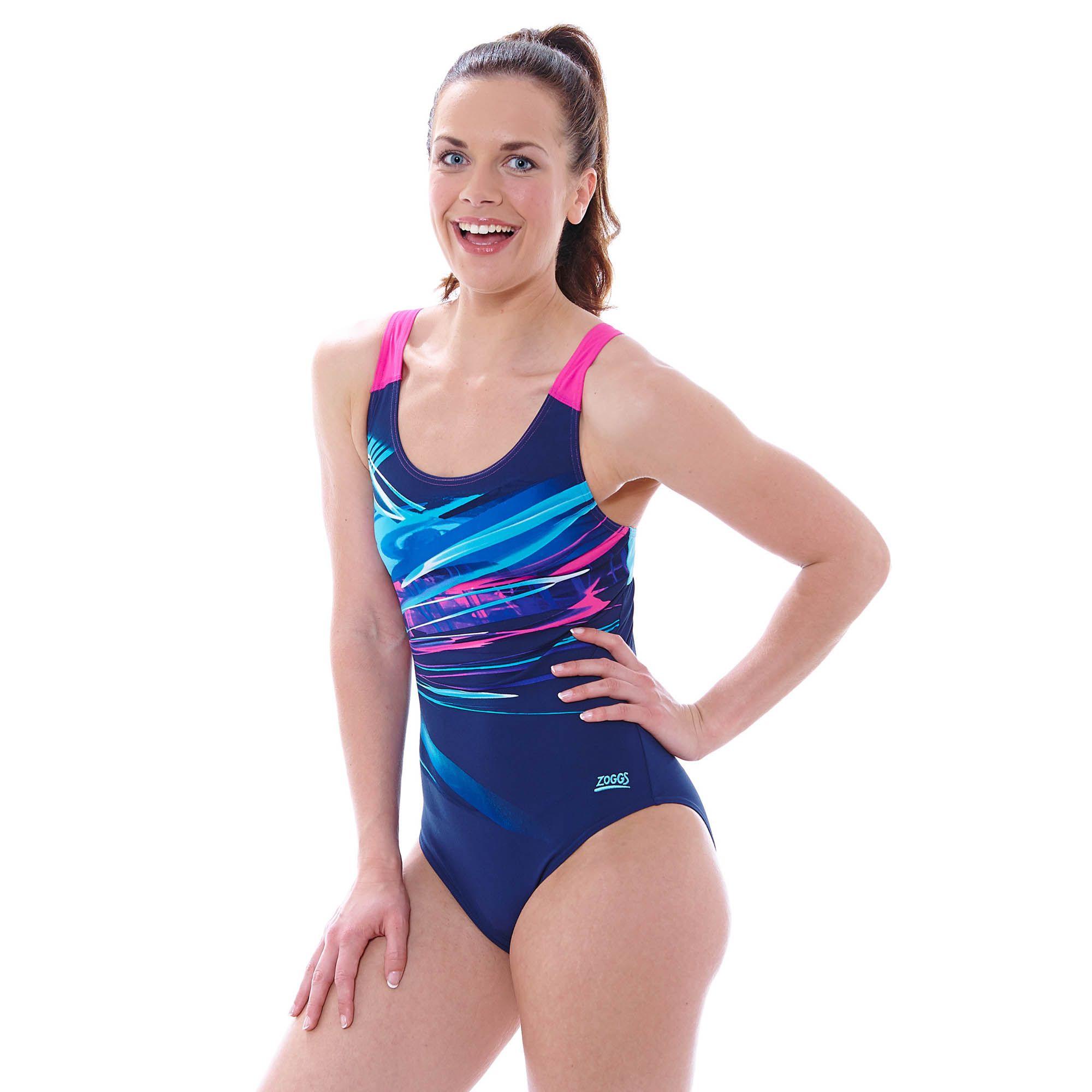 Zoggs Aurora Speedback Ladies Swimsuit Sweatband Com