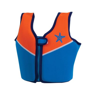 Zoggs Boys Neoprene Swim Blue-Orange Jacket