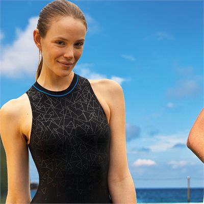 Zoggs Cabarita High Neck Ladies Swimsuit - model