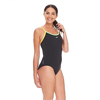 Zoggs Cannon Strikeback Ladies Swimsuit - Black/Side