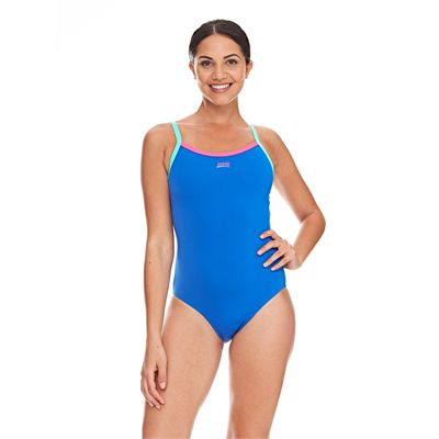 Zoggs Cannon Strikeback Ladies Swimsuit - Blue