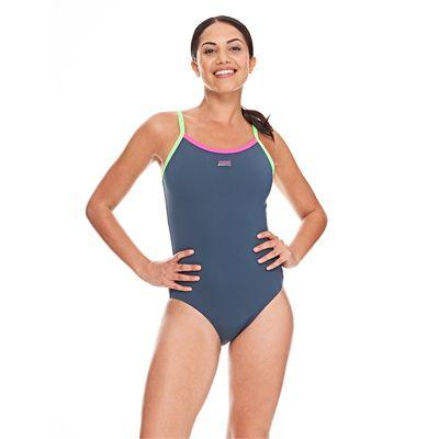 Zoggs Cannon Strikeback Ladies Swimsuit - Grey