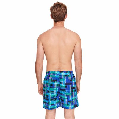 Zoggs Checkmate 16 inch Mens Swimming Shorts - Back