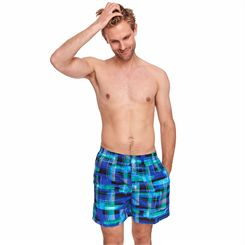 Zoggs Checkmate 16 inch Mens Swimming Shorts