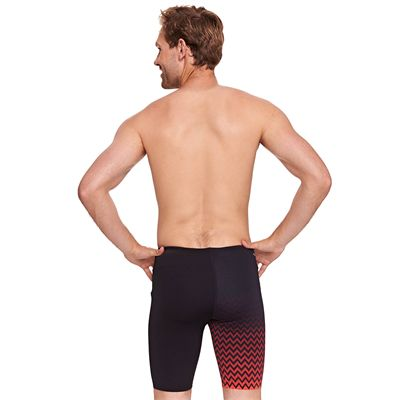 Zoggs Chevron Mens Jammer - Red - Back