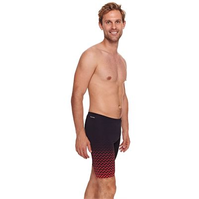 Zoggs Chevron Mens Jammer - Red - Side