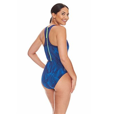 Zoggs Concord Zipped Back Ladies Swimsuit - Back