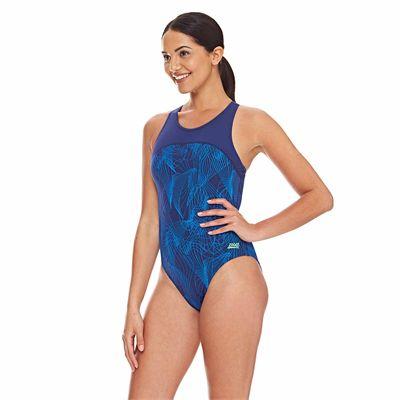 Zoggs Concord Zipped Back Ladies Swimsuit