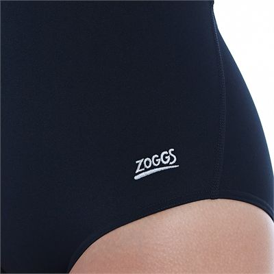 Zoggs Cottesloe Flyback Ladies Swimsuit - Black - Logo