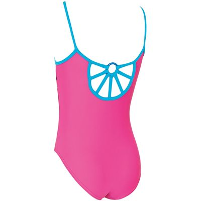 Zoggs Crazy Retro Cut Out Back Girls Swimsuit - Back
