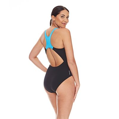 Zoggs Darwin Actionback Ladies Swimsuit - Blue - Back