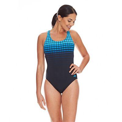 Zoggs Darwin Actionback Ladies Swimsuit - Blue - Front