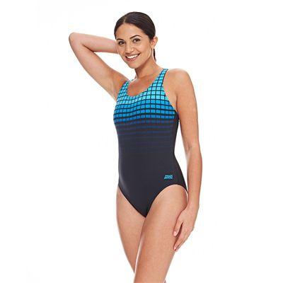 Zoggs Darwin Actionback Ladies Swimsuit - Blue
