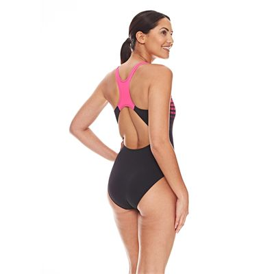Zoggs Darwin Actionback Ladies Swimsuit - Pink - Back