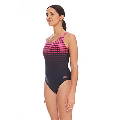 Zoggs Darwin Actionback Ladies Swimsuit - Pink - Side