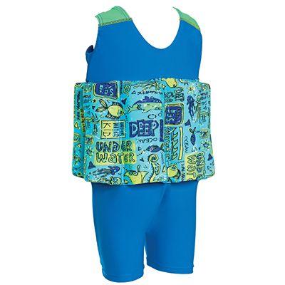 Zoggs Deep Sea Learn To Swim Floatsuit - Back