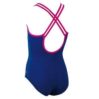 Zoggs Diamond Diva Crossback Girls Swimsuit - Back