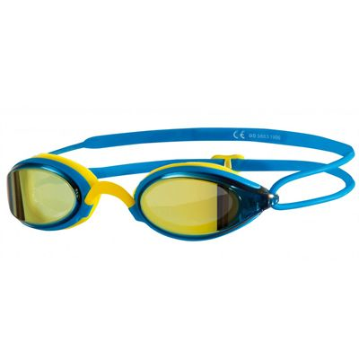 Zoggs Fusion Air Gold Mirror Swimming Goggles - Blue