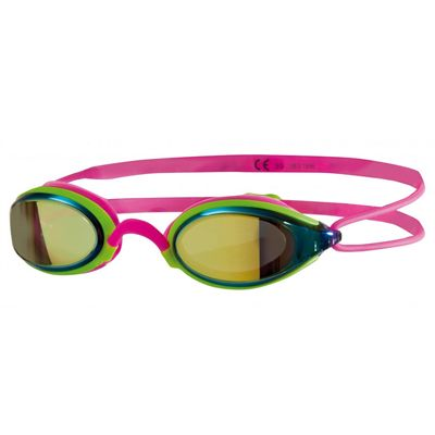 Zoggs Fusion Air Gold Mirror Swimming Goggles - Pink Colour