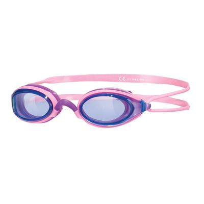 Zoggs Fusion Air Junior Goggles - Pink Frame And Blue Lenses