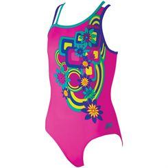 Zoggs Hippy Garden Crossback Girls Swimsuit