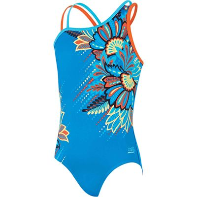 Zoggs Indian Tribe Crossback Girls Swimsuit