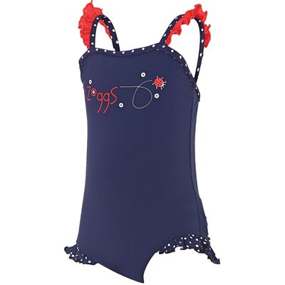 Zoggs Ladybug Frill Classicback Girls Swimsuit