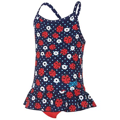 Zoggs Ladybug X Back Girls Swimdress - Back