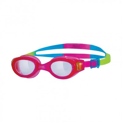 Zoggs Little Phantom Swimming Goggles-Clear lenses with pink frame