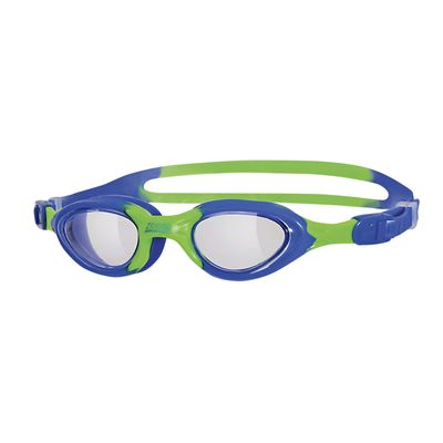 Zoggs Little Super Seal Kids Swimming Goggles - Blue Green Frame Clear Lenses