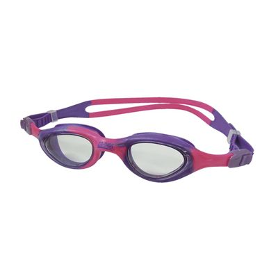Zoggs Little Super Seal Kids Swimming Goggles - Pink Purple Frame Clear Lenses