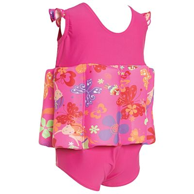 Zoggs Mermaid Flower Learn To Swim Floatsuit-back