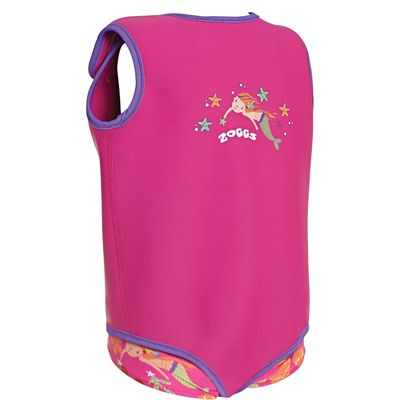 Zoggs Mermaid Flower Neoprene Baby Wrap - Back