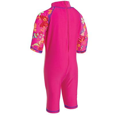 Zoggs Mermaid Flower Sun Protection One Piece Suit-back
