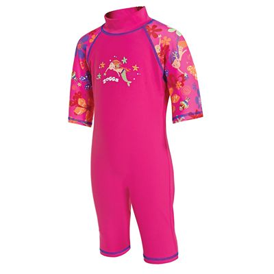 Zoggs Mermaid Flower Sun Protection One Piece Suit